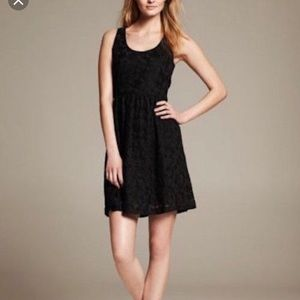 Banana Republic Little Black Lace Dress